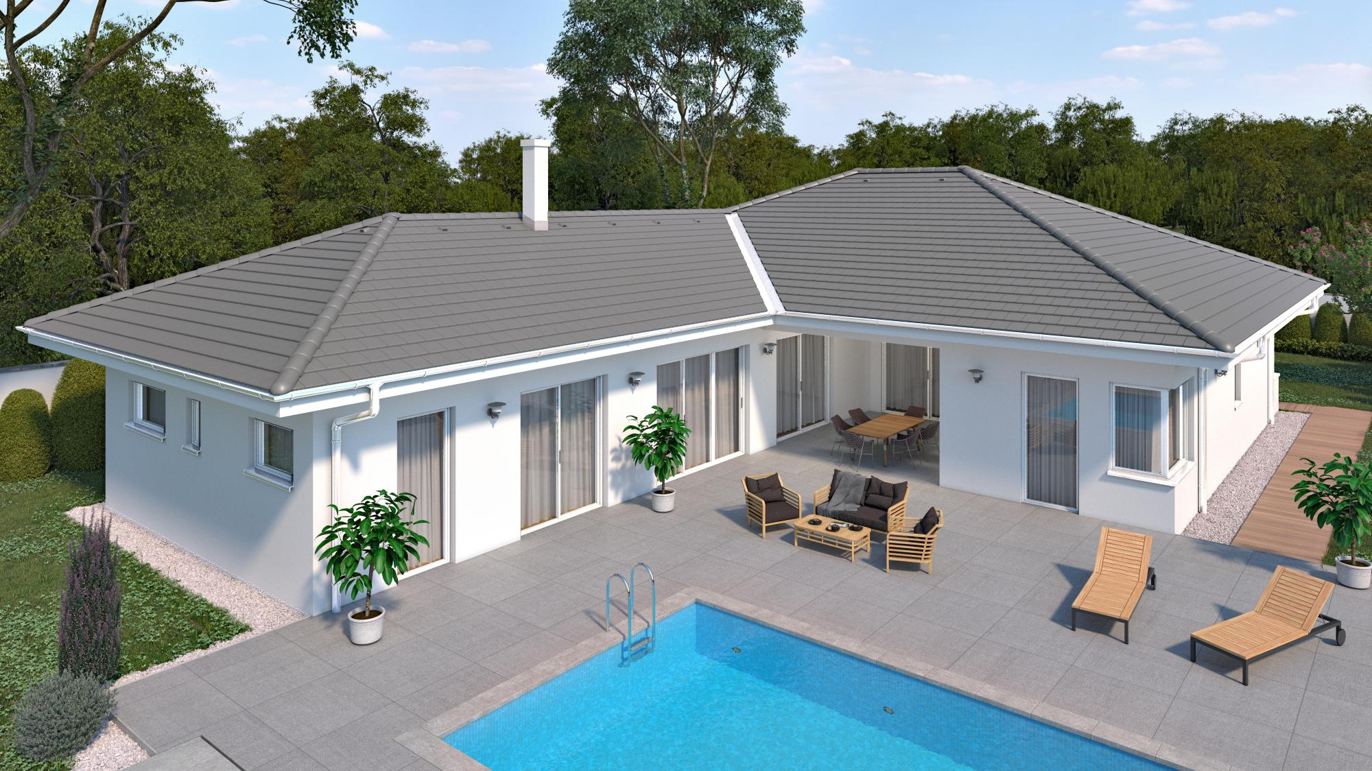 Vygenerovaný obrázok domu podľa konfigurácie